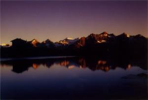 Abenddämmerung Zupalseehütte