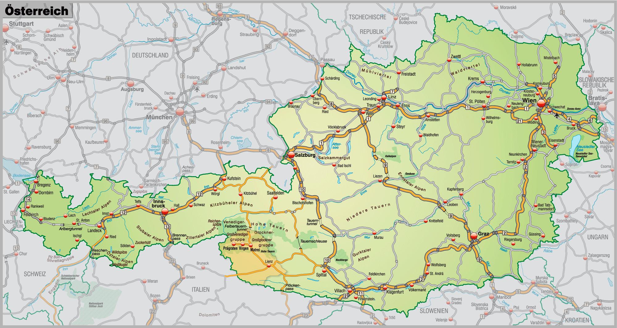 Verkehrsspinne Österreich
